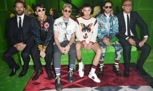 Jared Leto, Marco Bizzarri and co on the Gucci frow.