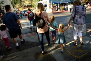 The popular town is overrun with tourists in the summer who come to visit and explore close nearby Rocky Mountain national park.