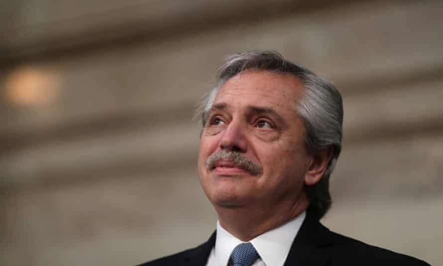 Argentina's president, Alberto Fernández