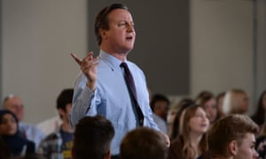 David Cameron holds a EU referendum Q&A with students in Ipswich