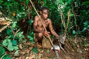 A hunter from the Baka tribe