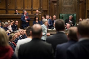 Theresa May makes a statement on Brexit to the House of Commons, 25 March 2019.