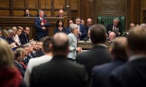 Theresa May making her statement in the House of Commons.