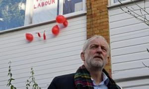 Jeremy corbyn outside his house in london