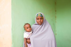 Aisha Mukhtar and her daughter Isan