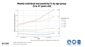 Positivity rates by age