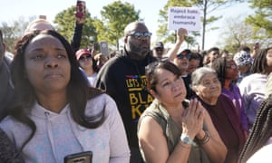 A rally for Jazmine Barnes in Houston. Family members expressed thanks for the outpouring of support and appealed to the suspect to turn himself in.