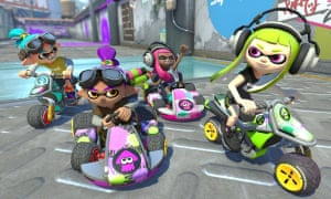 There are 42 Nintendo themed characters in Mario Kart 8 Deluxe, including the gang from Splatoon