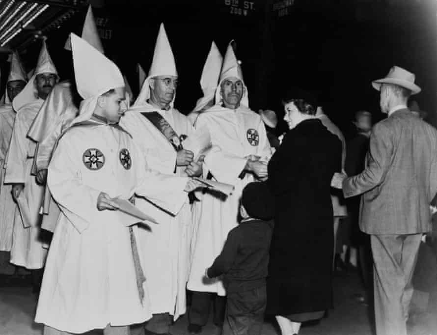 A Ku Klux Klan Parade in Los Angeles, 1940.