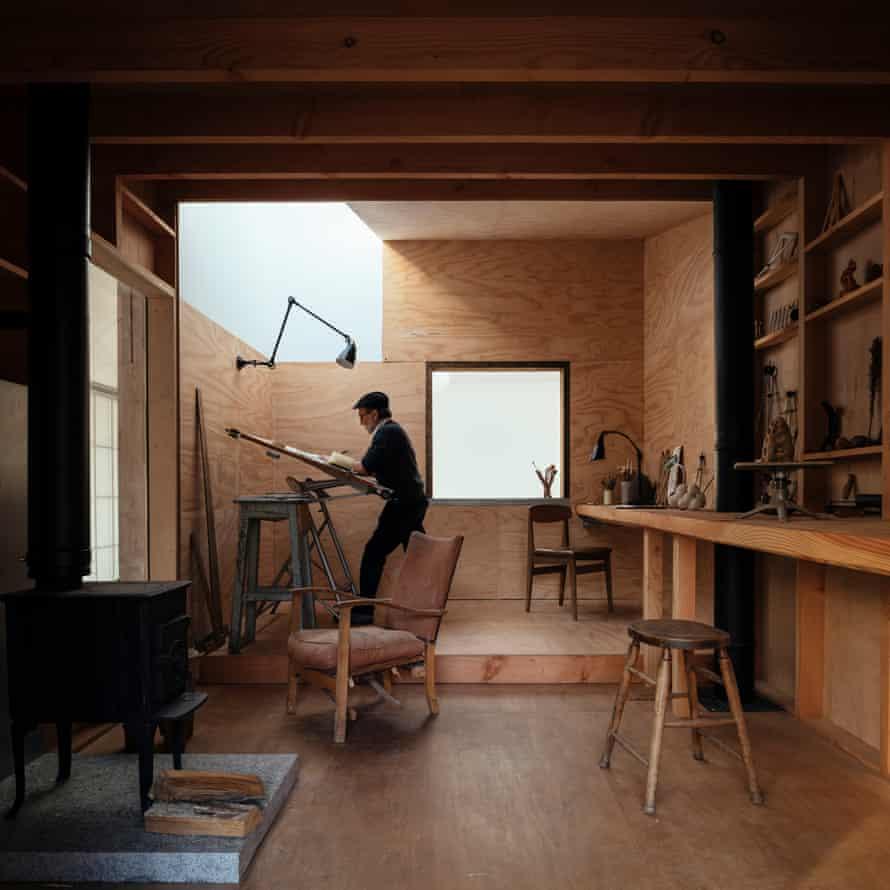 Inside the drawing studio.