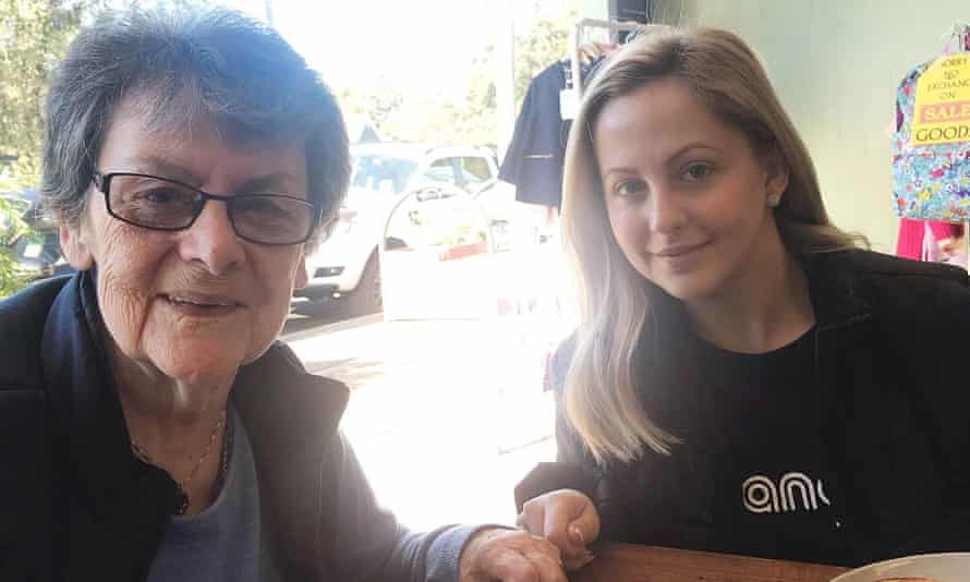 Ann Fahey with her granddaughter Nicole. Ann Fahey was a resident at Newmarch House aged care home.