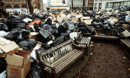 Rubbish pile during the winter of discontent.