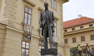Statue of Thomas Garrigue Masaryk, first president of Czechoslovakia.