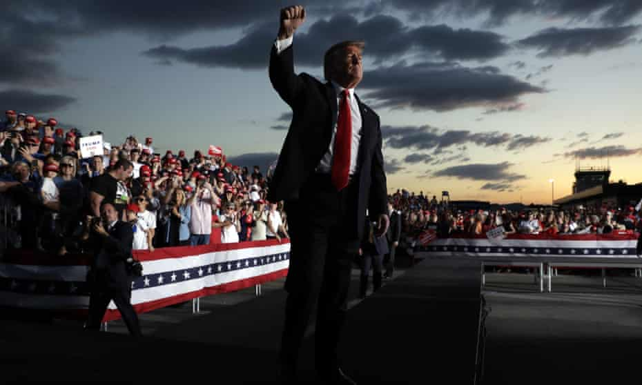 Donald Trump gestures at a rally in Montoursville, Pennsylvania last week.