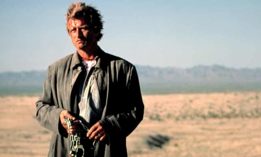 Rutger Hauer in The Hitcher.