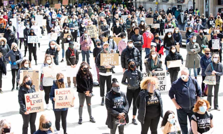 A Black Lives Matter protest in Peterborough on 6 June.