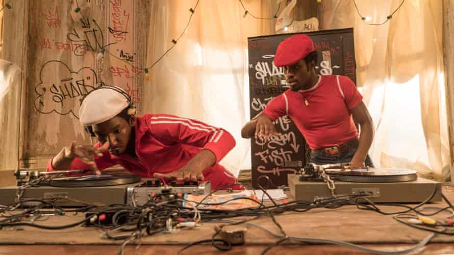 Mamoudou Athie (left) as the young Grandmaster Flash in The Get Down.