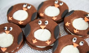 Chocolate and chilli penguins with orange-flavoured ganache