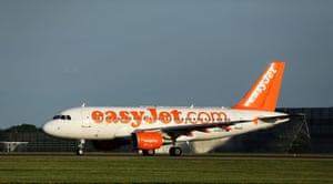 An asyJet passenger plane.