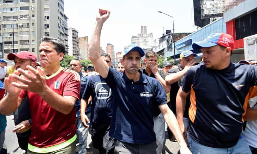 Capriles: 'This is no longer people chanting and taking selfies. People are indignant, and they are resolute.'