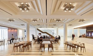 inside the newly converted Royal Opera House, London.