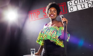 'Politically charged': Lolly Adefope at the Top Secret Comedy Club in London.