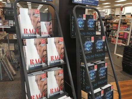 Rage, Bob Woodward's second Trump book, on sale in Gurnee, Illinois.