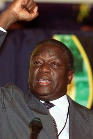 Emmerson Mnangagwa in 2002. The vice-president is known as 'the crocodile'.