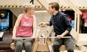 Anne-Marie Duff and Arthur Darvill in rehearsals for Sweet Charity at the Donmar Warehouse.