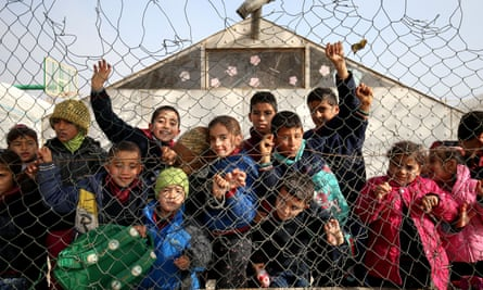 Syrian refugee children at a camp near Taalabaya in Lebanon. Such unaccompanied youngsters are at risk of radicalisation by jihadi groups.