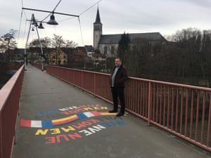 Peter Tuck on the French-German border