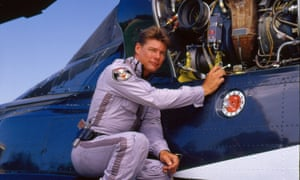 Jan-Michael Vincent as Stringfellow Hawke in Airwolf, 1985.