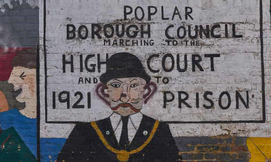 The mural marking the protest against rates payments led by George Lansbury, who was one of 30 councillors imprisoned in 1921.
