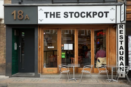 Goodbye to all this ... the Stockpot, on Old Compton Street, Soho.