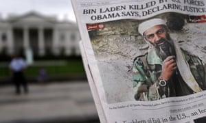 A newspaper reporting Bin Laden's death.