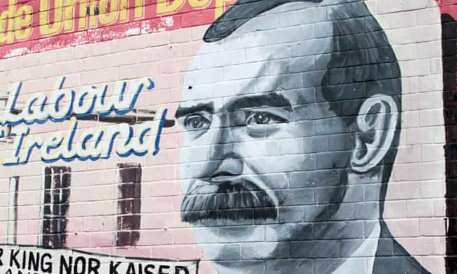 A mural of James Connolly in West Belfast