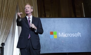 Microsoft's president Brad Smith, who said the government will 'have to go through us' to deport any employee affected by ending DACA.