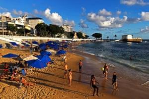 18 June 2019, Salvador, Praia Porto do Barra.Beach football.