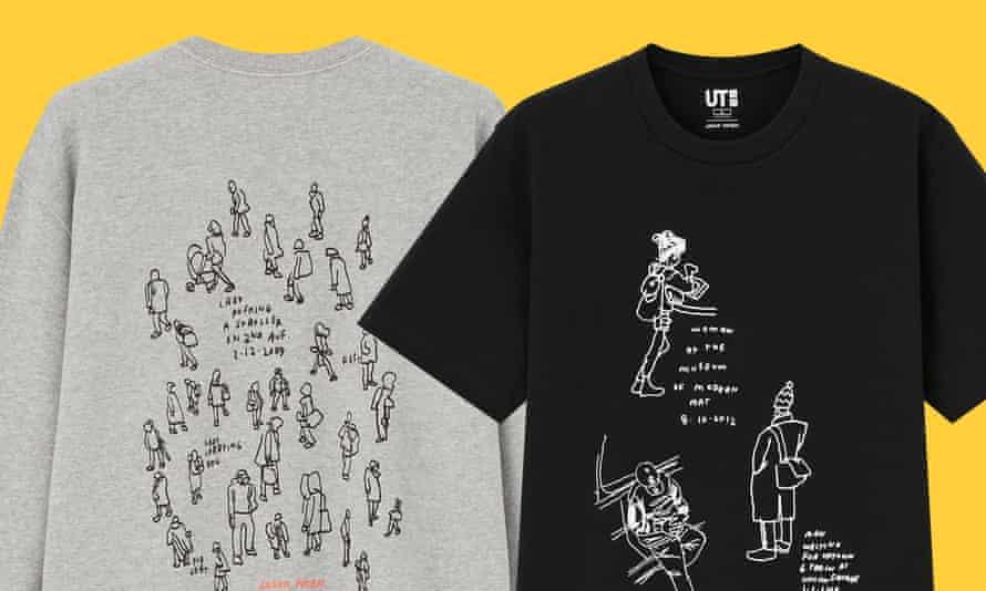 Jason Polan T-shirts for Uniqlo