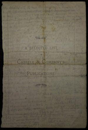 Charlotte Marsh's letter