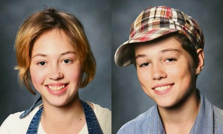 """Lotte and Yonathan Heij. 'Yonathan was watching the television, saying: """"These could be our brothers and sisters.""""'"""
