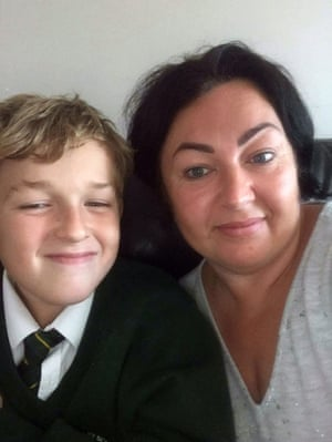 Angela Smith with her son Harry, who has Arfid