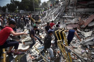 There is widespread devastation due to a number of high-rise buildings having collapsed in the capital city.