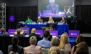A file image of a hearing of the Royal Commission into Violence, Abuse, Neglect and Exploitation of People with Disability