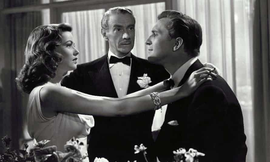 Sneaky Society… Gene Tierney, Clifton Webb and Vincent Price in Laura.