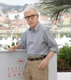 Woody Allen in Cannes doing his version of the raptor.
