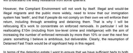 Paragraph from Rudd's letter to May