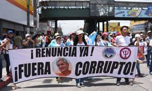 Guatemala students protest.