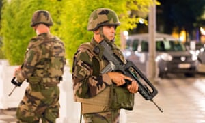 French soldiers stand guard in Nice