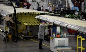 Bombardier factory in Belfast